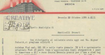 Lettera al cliente nel 1935Lettera commerciale del 1935